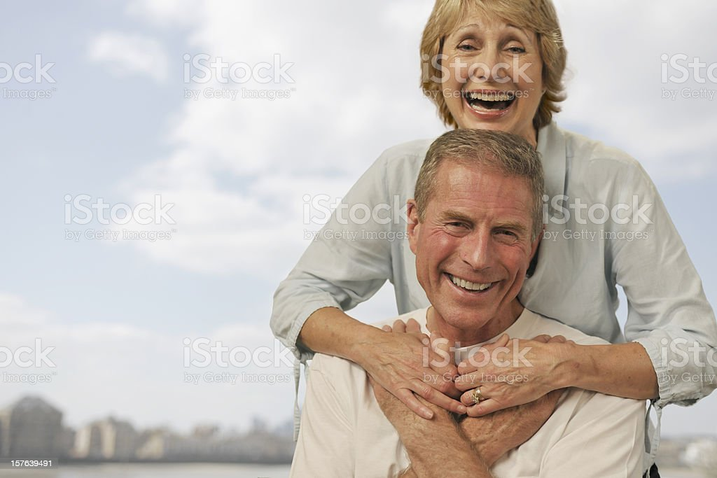 attractive mature couple royalty-free stock photo