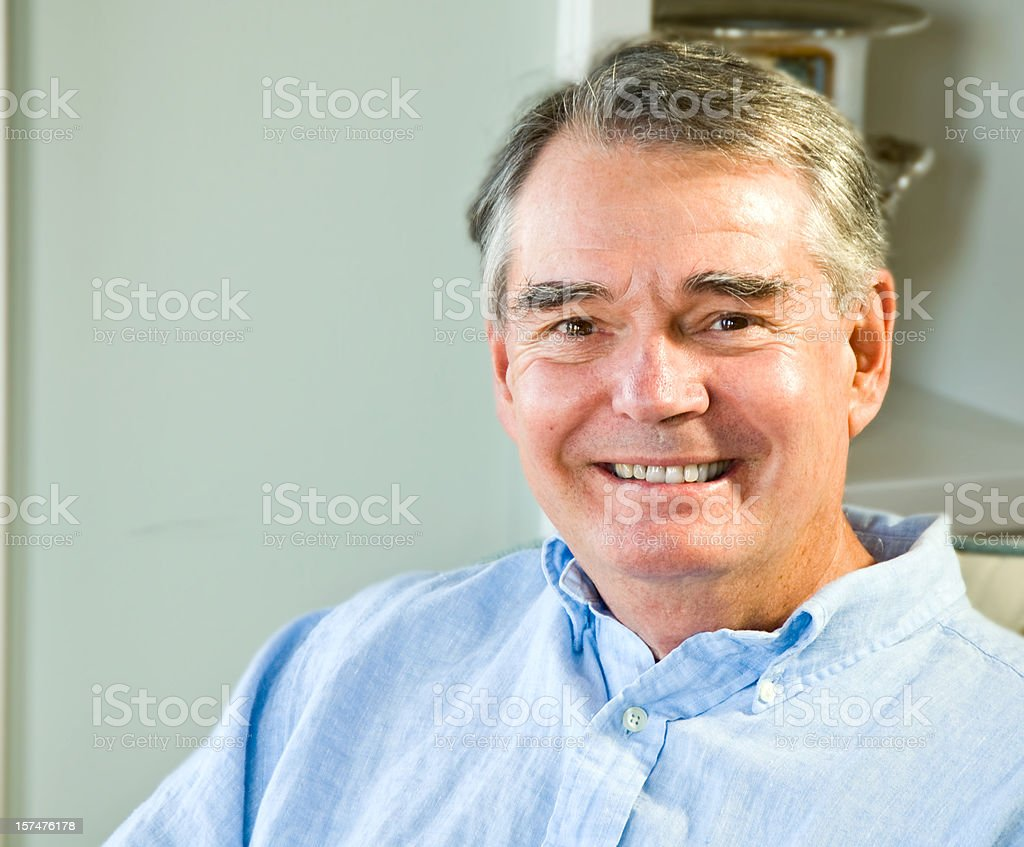 Attractive Mature Man royalty-free stock photo