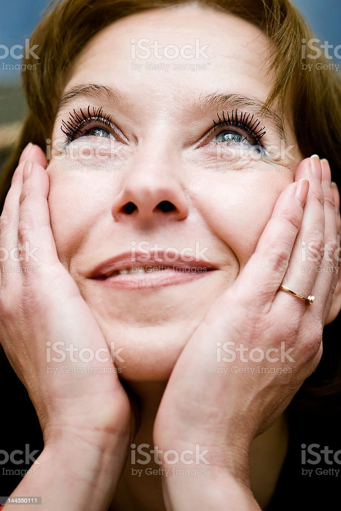 attractive mature woman look royalty-free stock photo