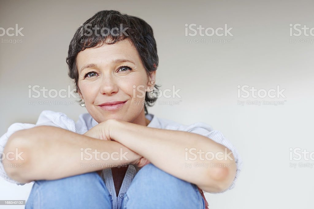 Attraktive Reife Frau - Lizenzfrei Attraktive Frau Stock-Foto