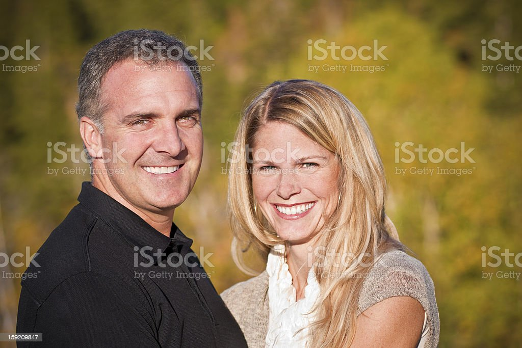 Attractive Middle-Aged Couple Portrait royalty-free stock photo