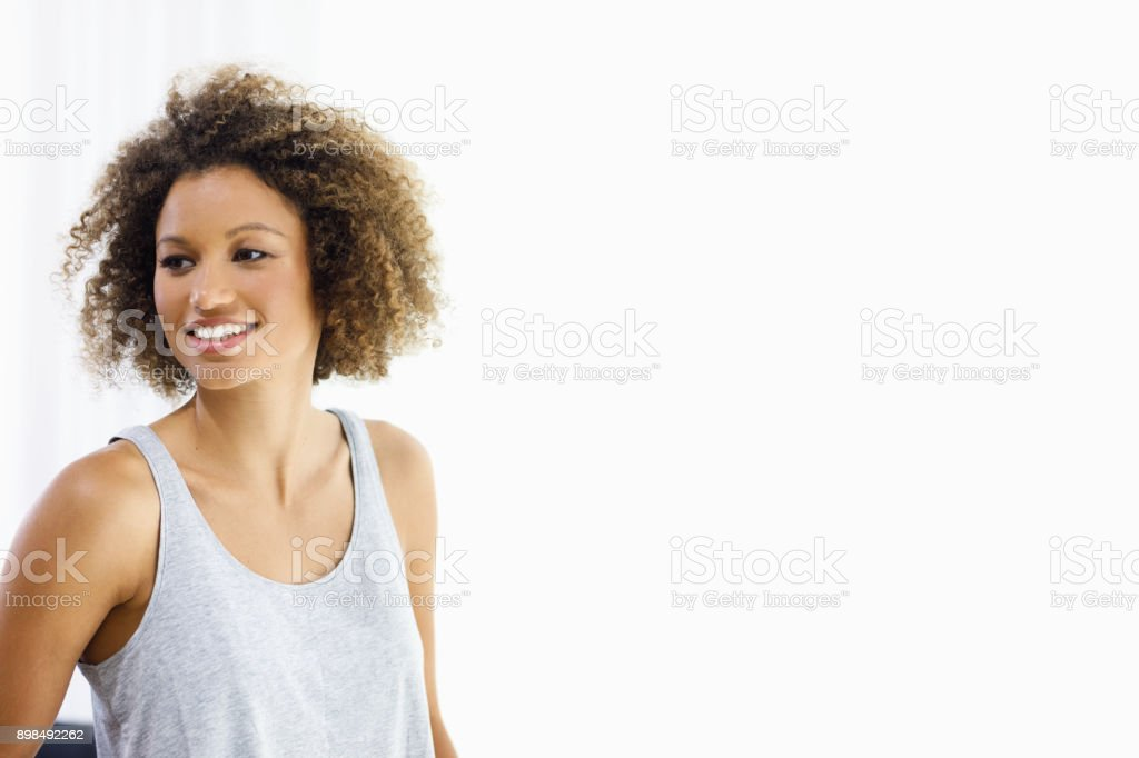 Attractive Mixed Race Young Woman stock photo