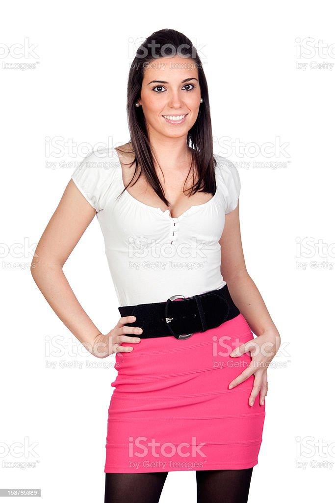 Attractive model girl stock photo