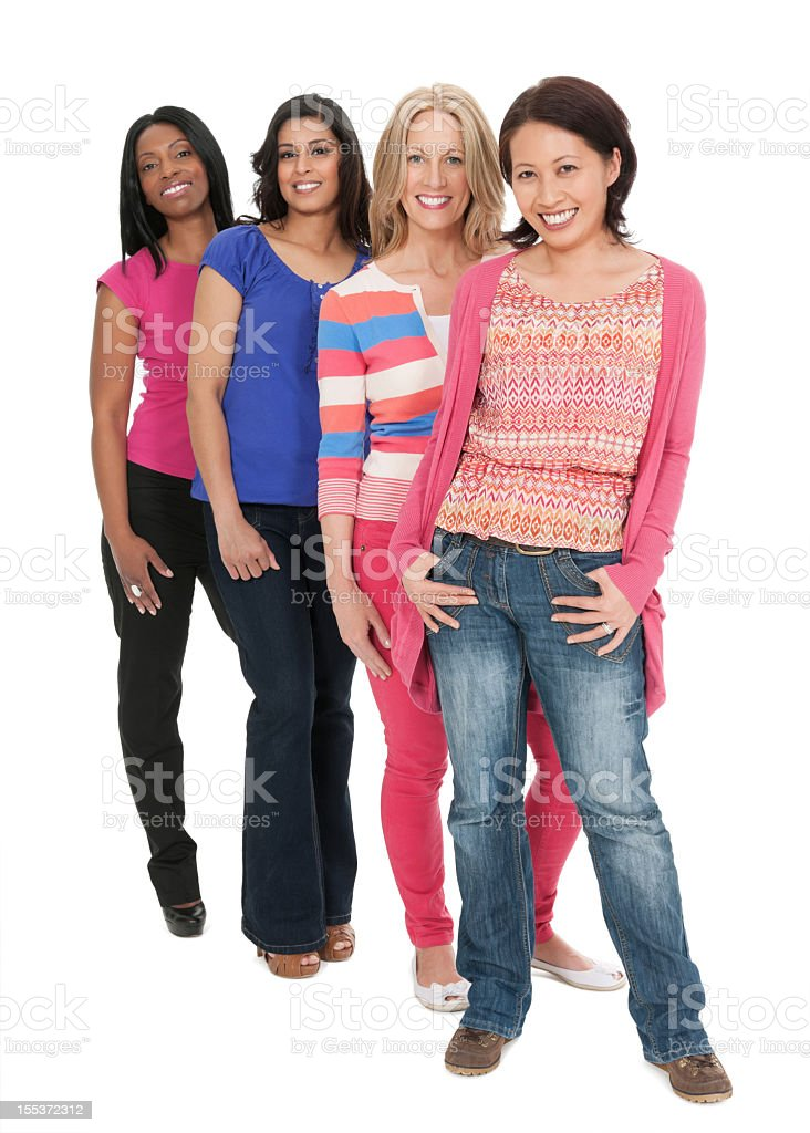 Attractive Multi Ethnic Women - Isolated royalty-free stock photo