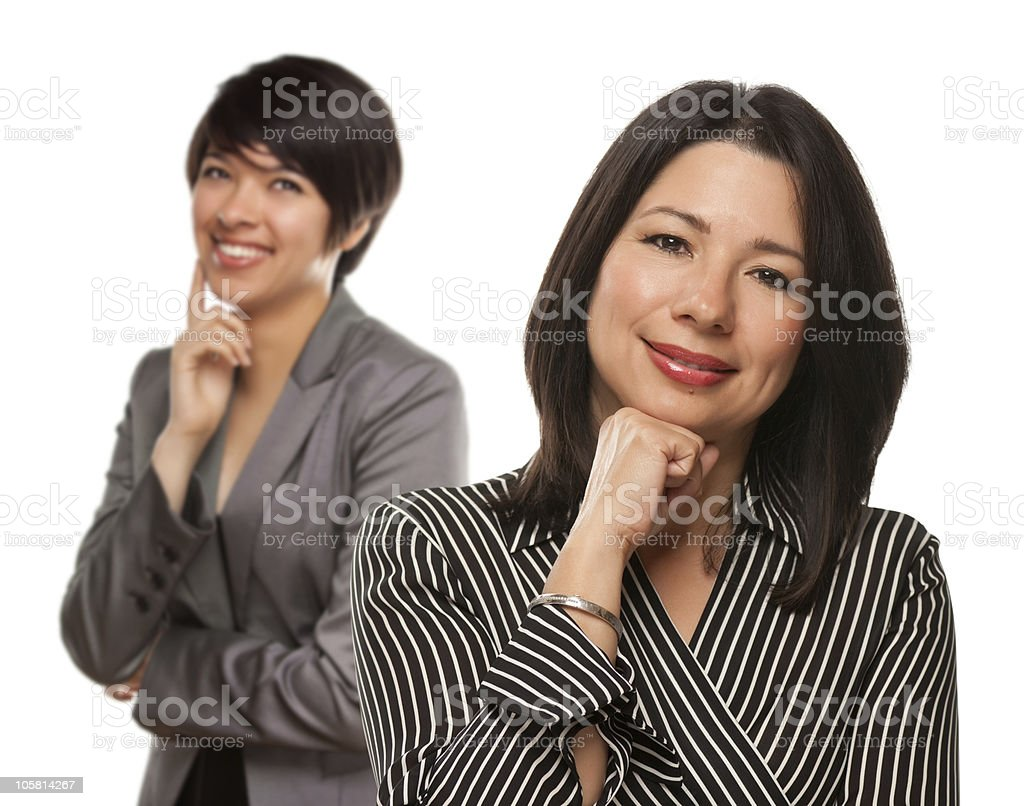 Attractive Multiethnic Mother and Daughter Portrait royalty-free stock photo