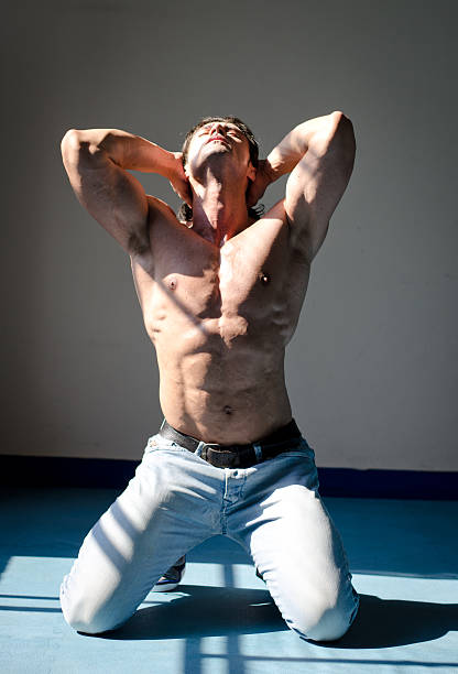 Royalty Free Naked Men Male Kneeling Pictures, Images and