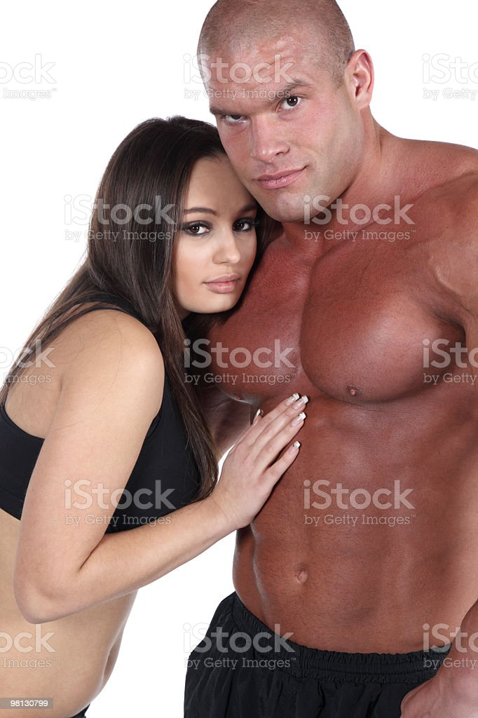 Attractive muscular couple royalty-free stock photo