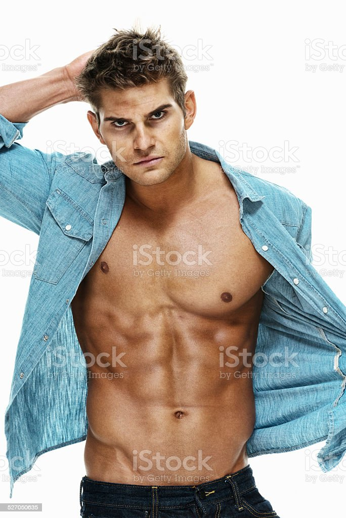 Attractive muscular man stock photo