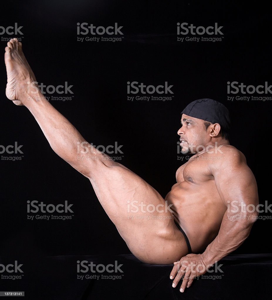 Attractive Nude Male Gymnast Stock Photo  More Pictures -1773