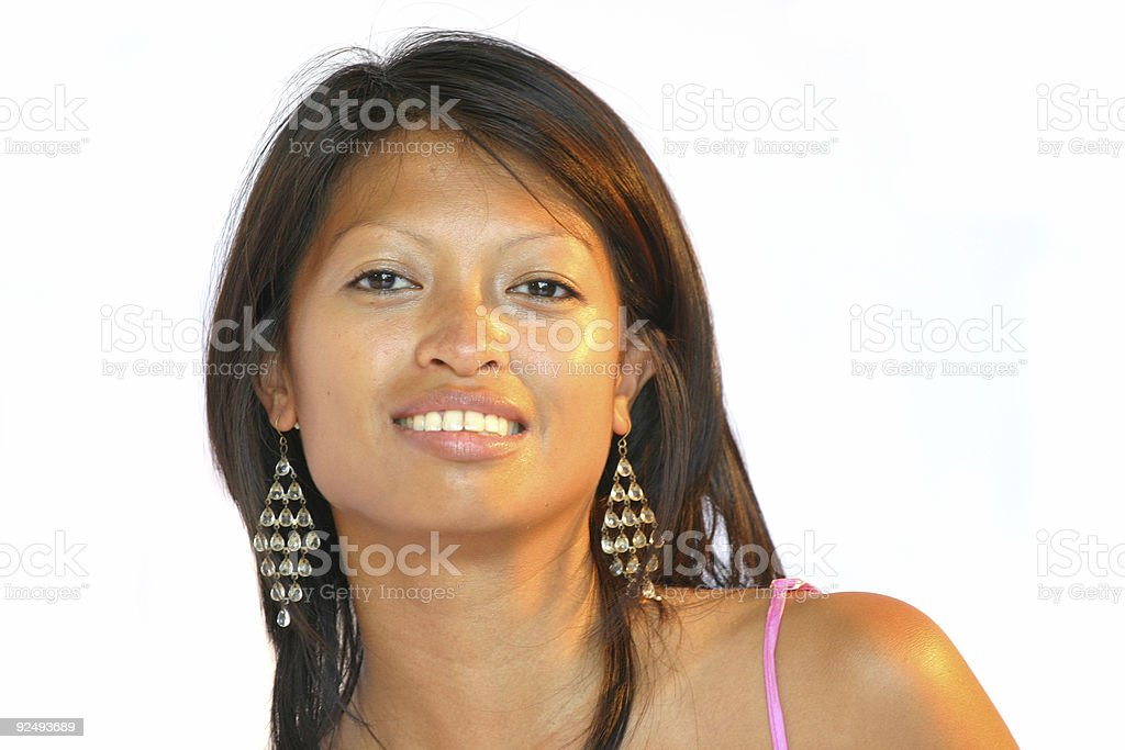 Attractive philippine woman royalty-free stock photo