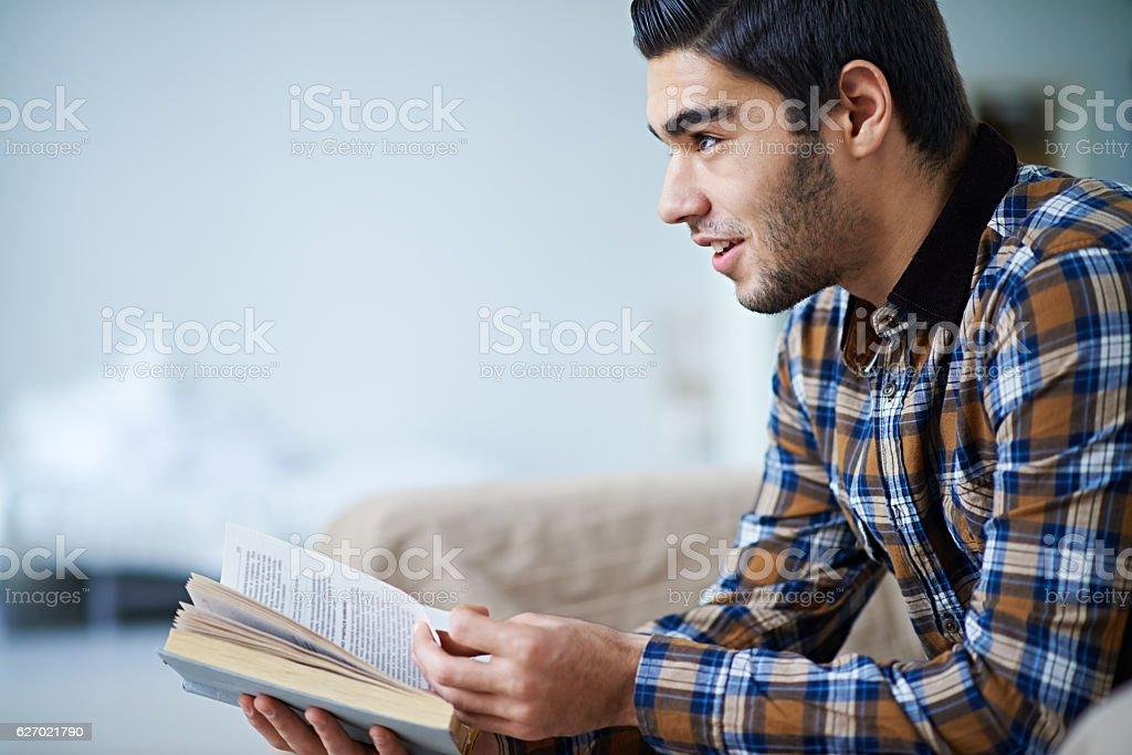 Attractive reader stock photo