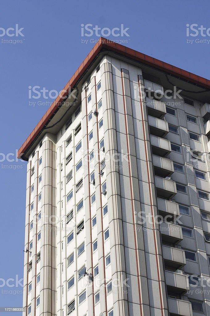 High rise back of Euston station London stock photo