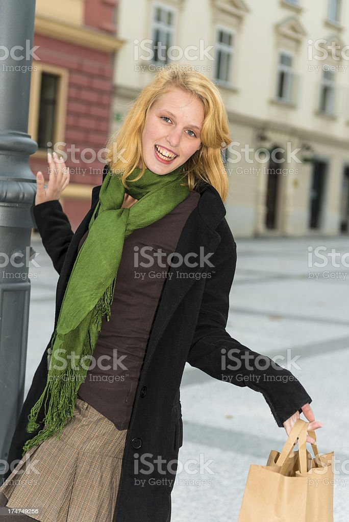 Attractive redhead royalty-free stock photo
