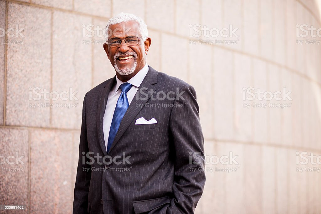 Attractive Senior African American Business Man - Photo
