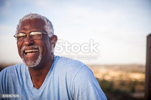 istock Attractive Senior Black Man Outdoor Portrait 626367626