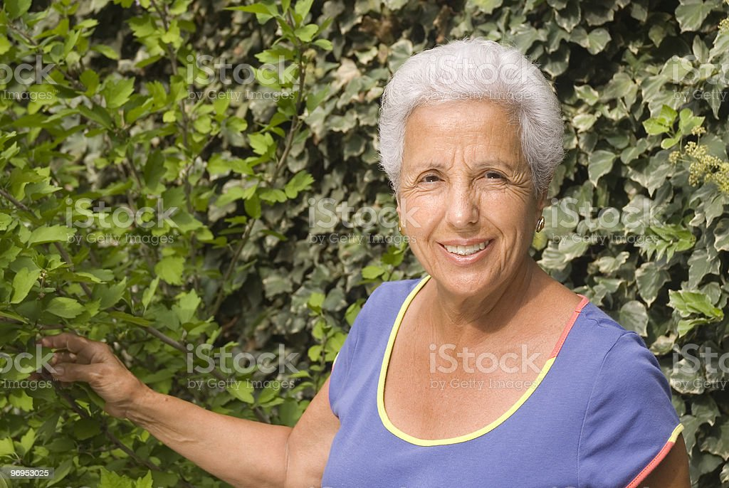Attractive senior woman royalty-free stock photo