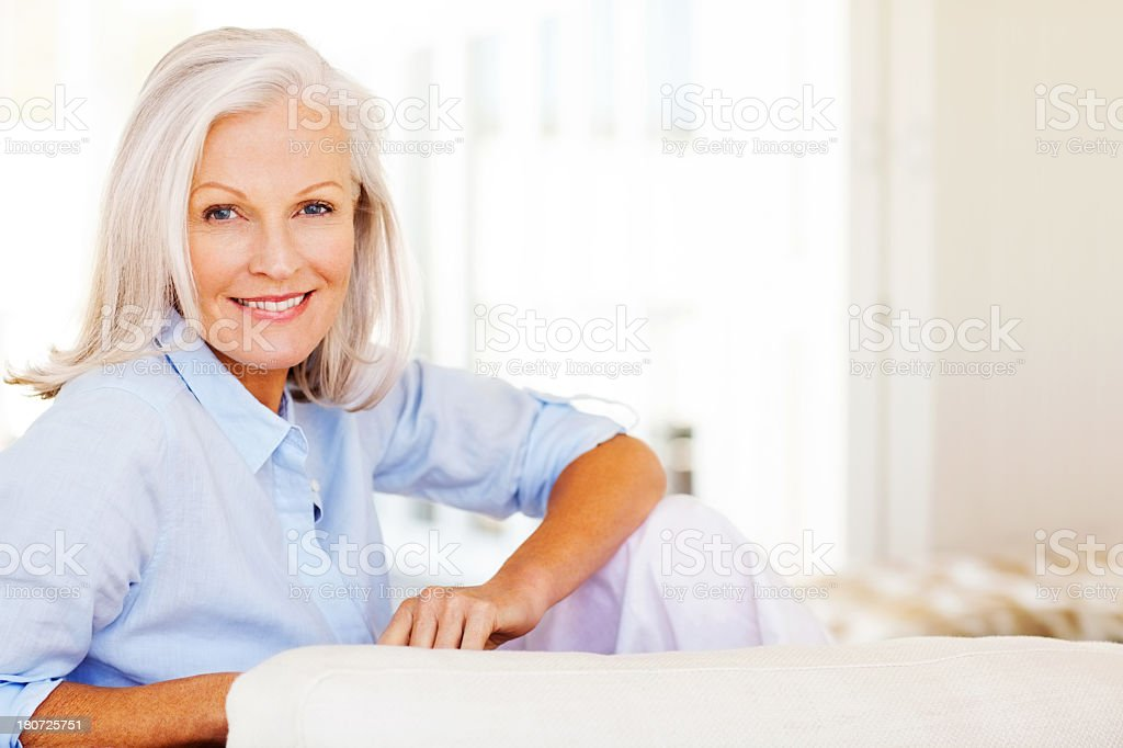 Attractive Senior Woman Smiling stock photo