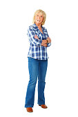 istock Attractive senior woman standing with her arms crossed 497115625