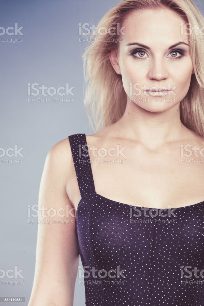 Attractive sensual blonde adult woman portrait royalty-free stock photo