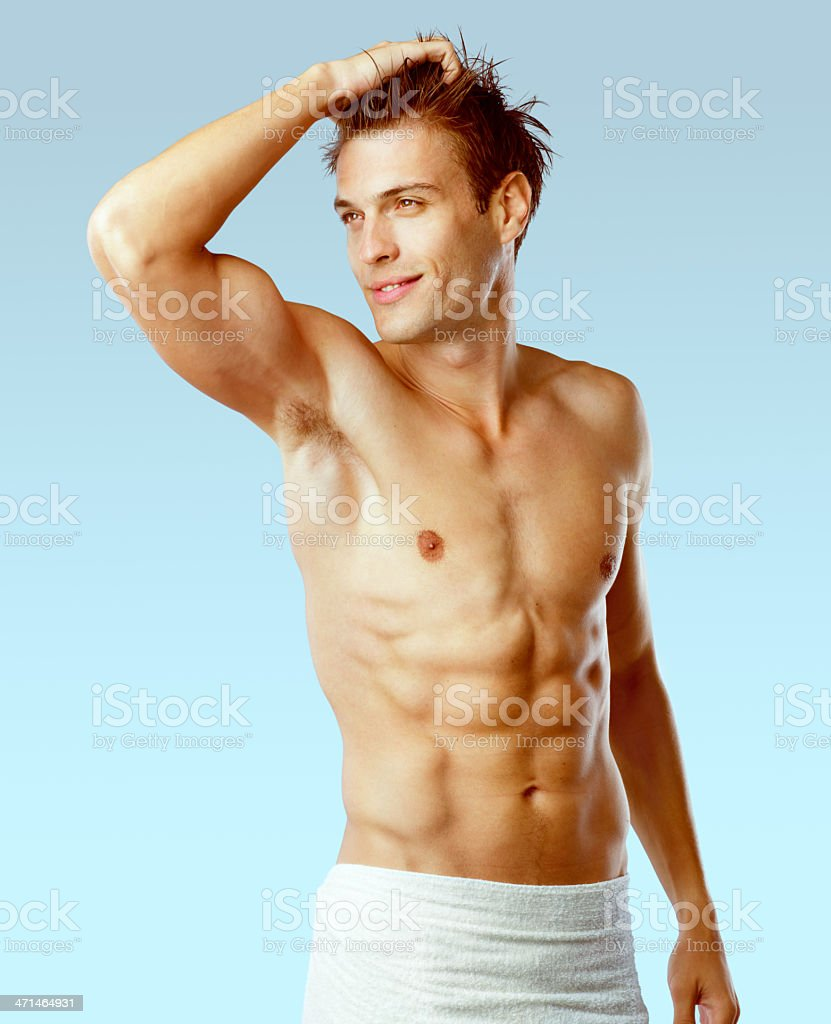 Attractive Sexy Man After A Shower Royalty Free Stock Photo