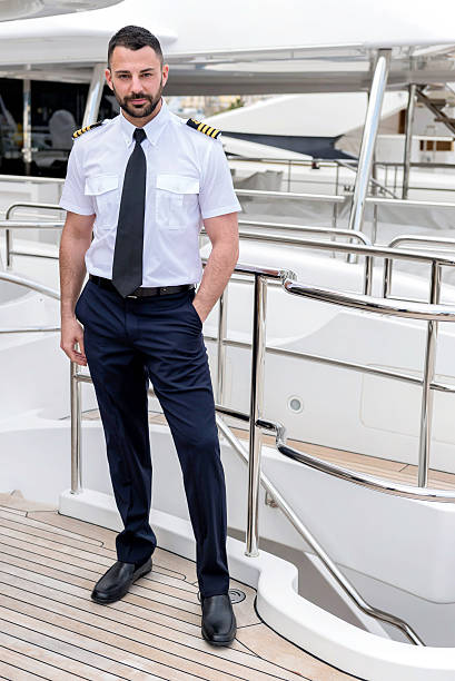 Attractive ship captain - Photo