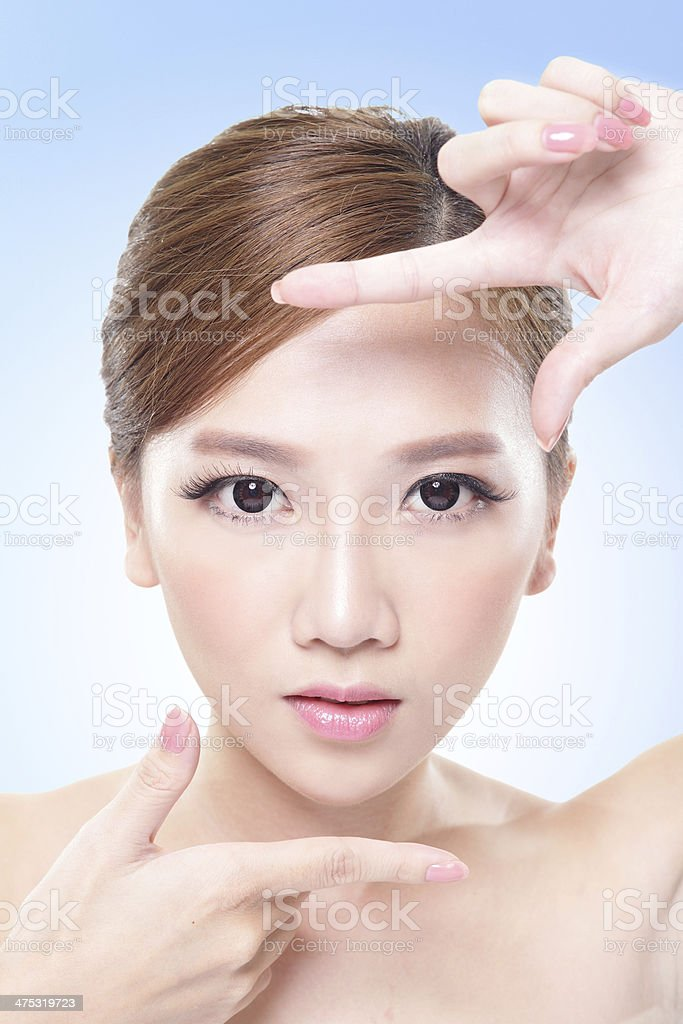 attractive skin care woman face royalty-free stock photo