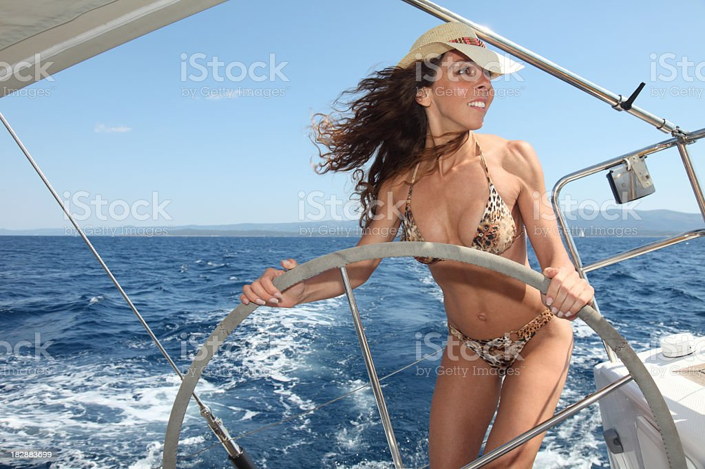 Attractive Skipper in Action royalty-free stock photo