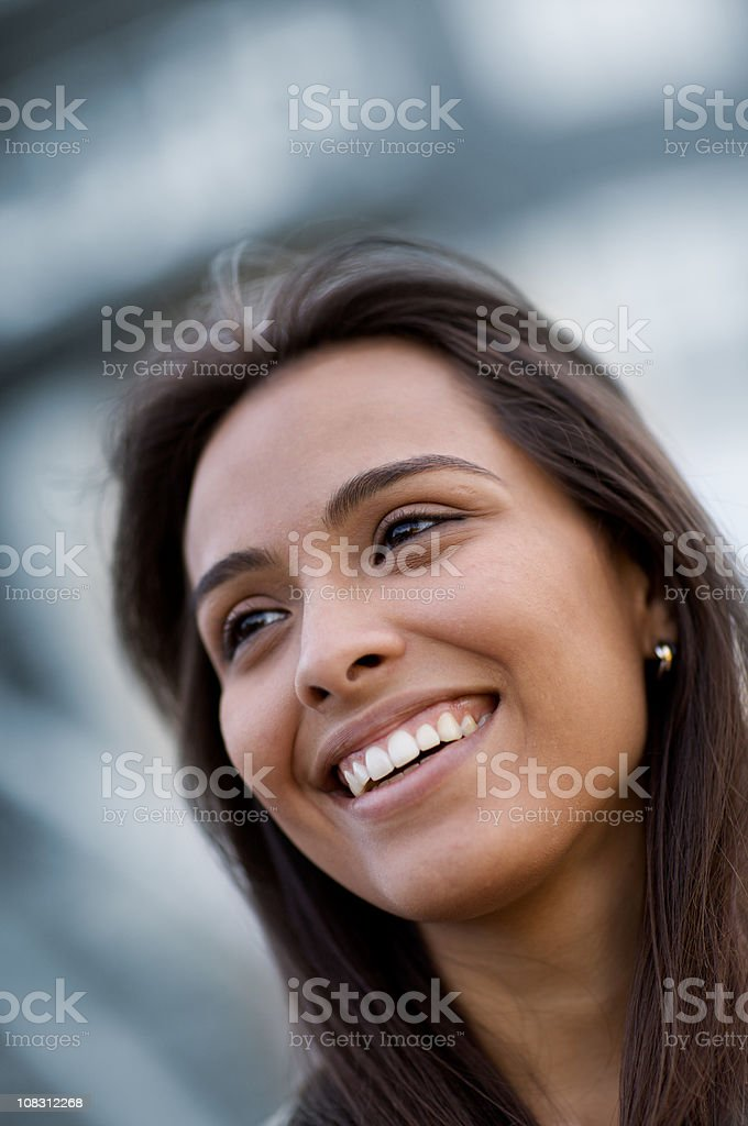 Attractive smiling Hispanic woman royalty-free stock photo