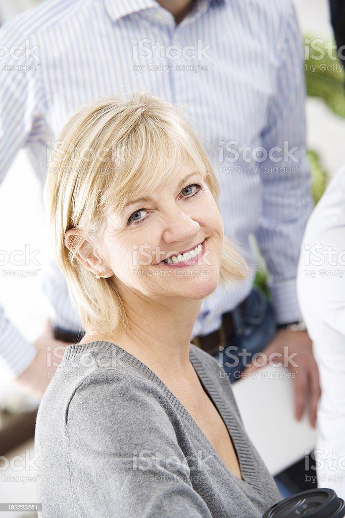 Attractive Smiling Woman Looking At Camera royalty-free stock photo