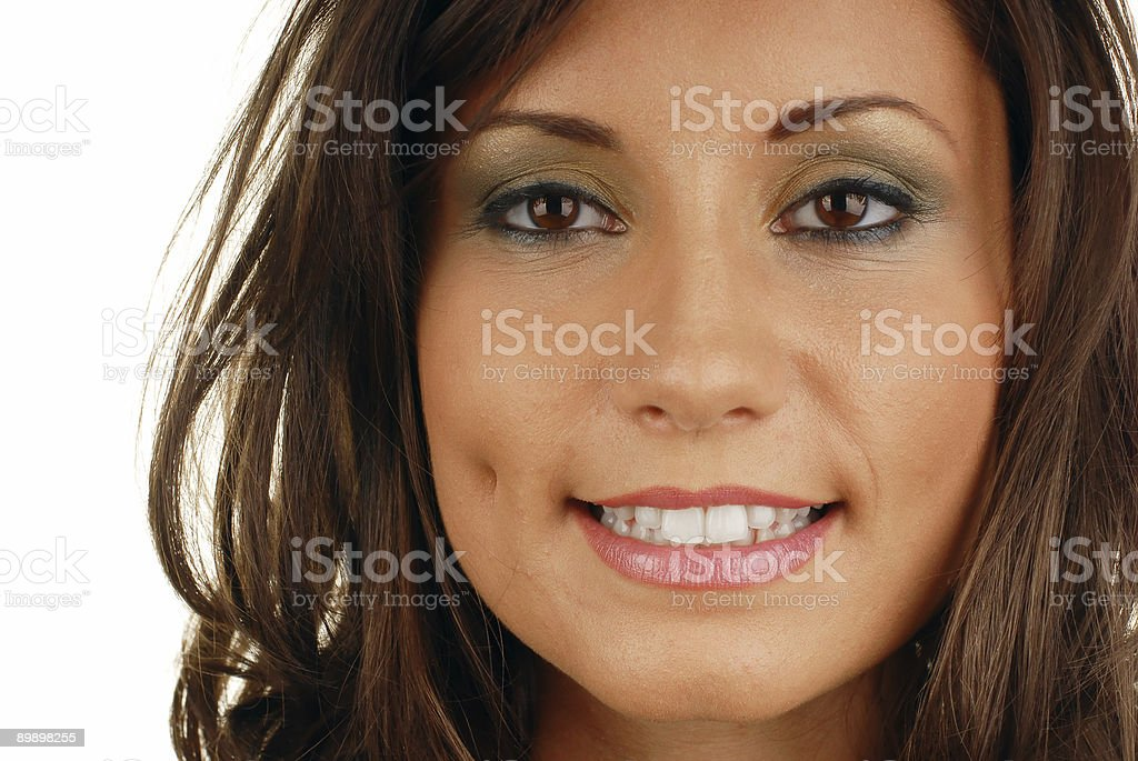 Attractive smiling woman mouth royalty-free stock photo