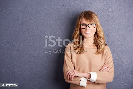 istock Attractive smiling woman portrait 649777730