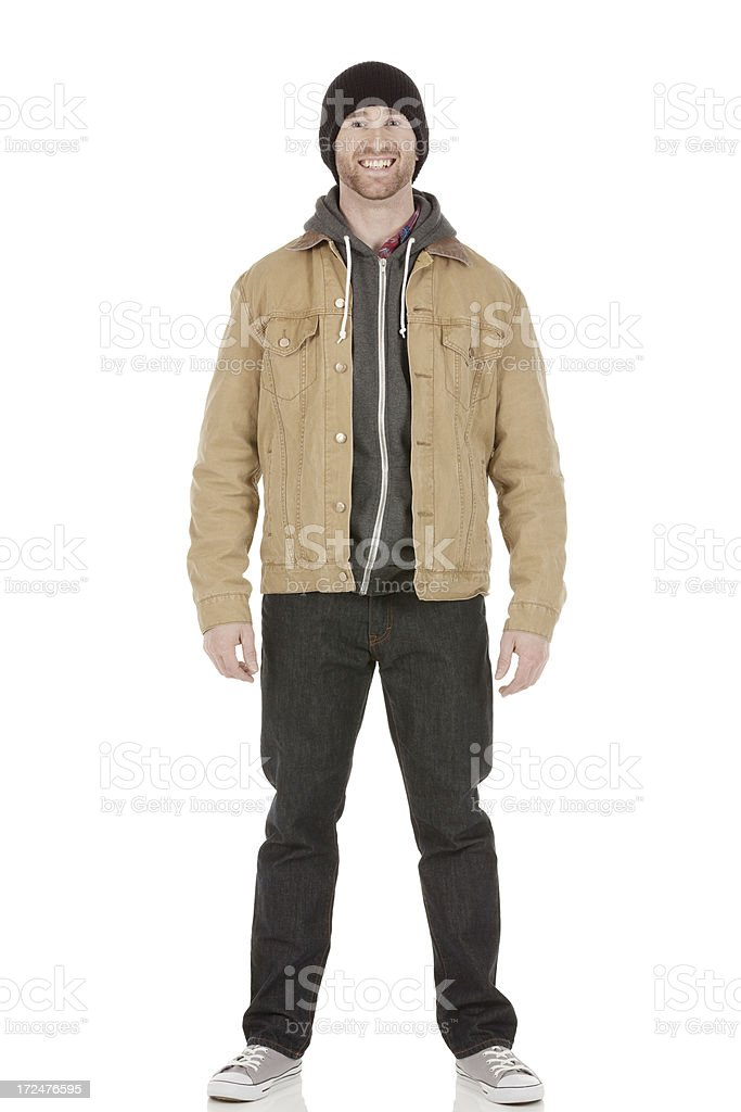 Attractive smiling young man posing royalty-free stock photo