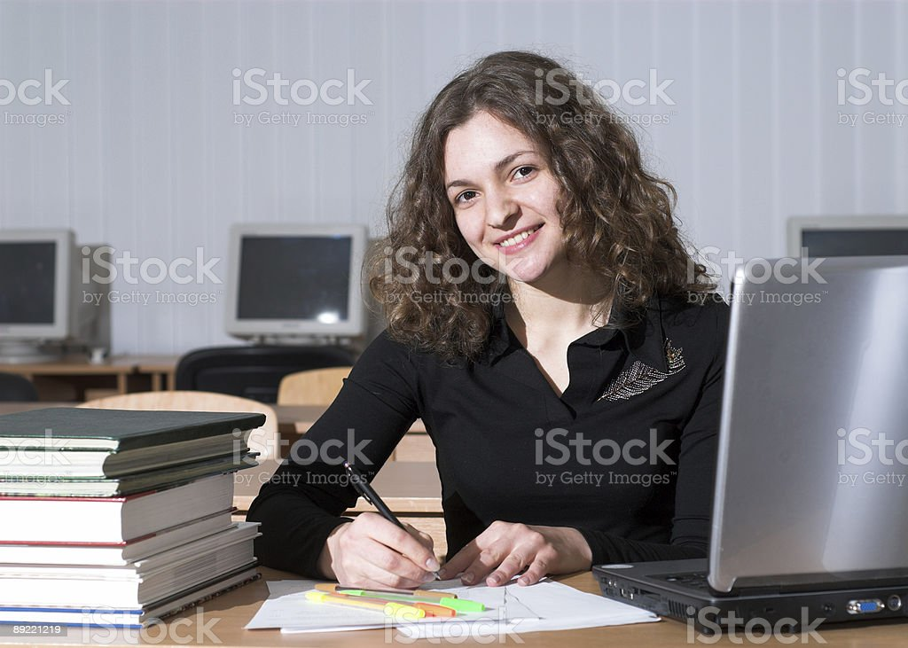 Attractive student royalty-free stock photo