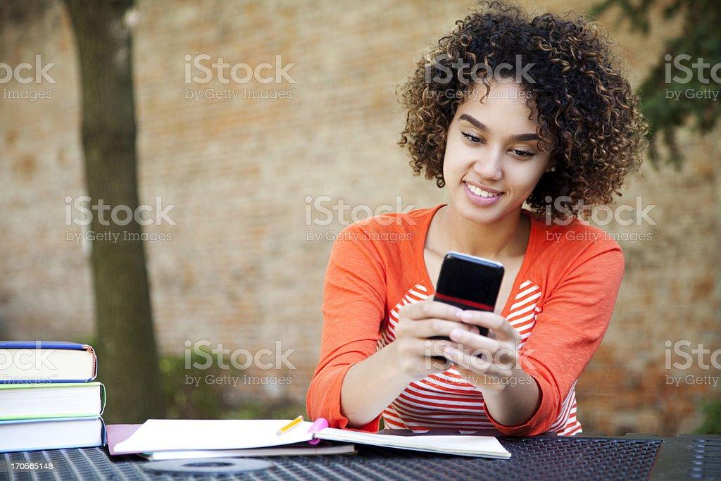 Schöne student SMS – Foto