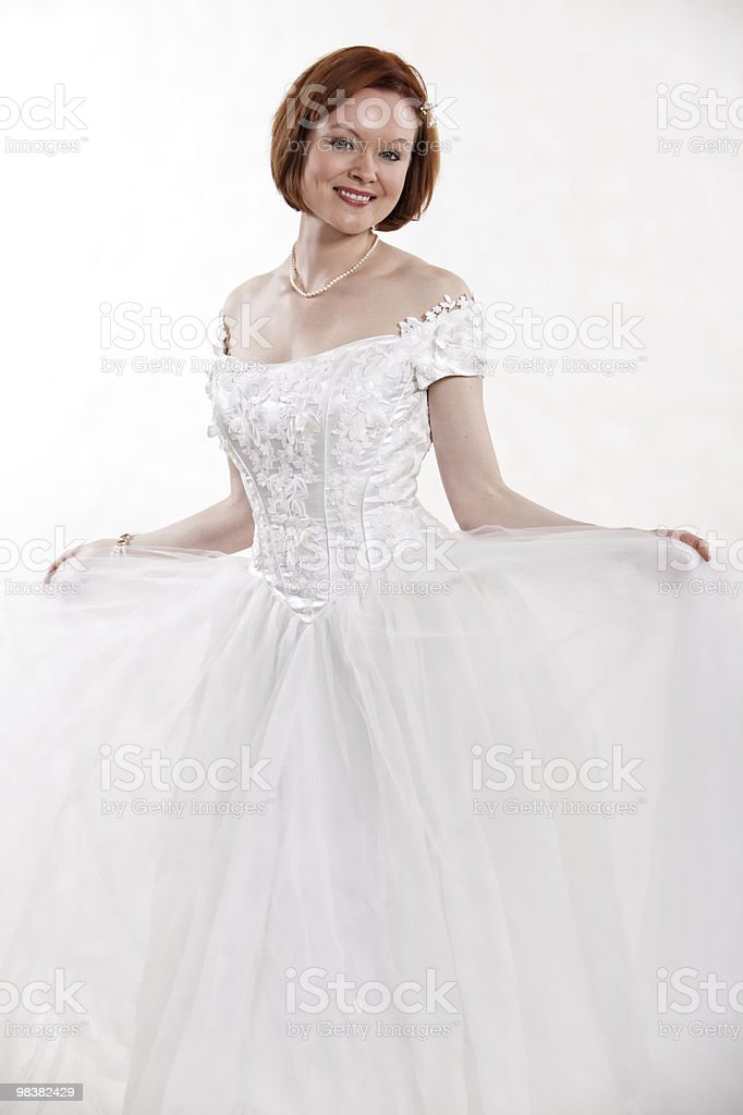 Attractive thirties caucasian brunette woman royalty-free stock photo