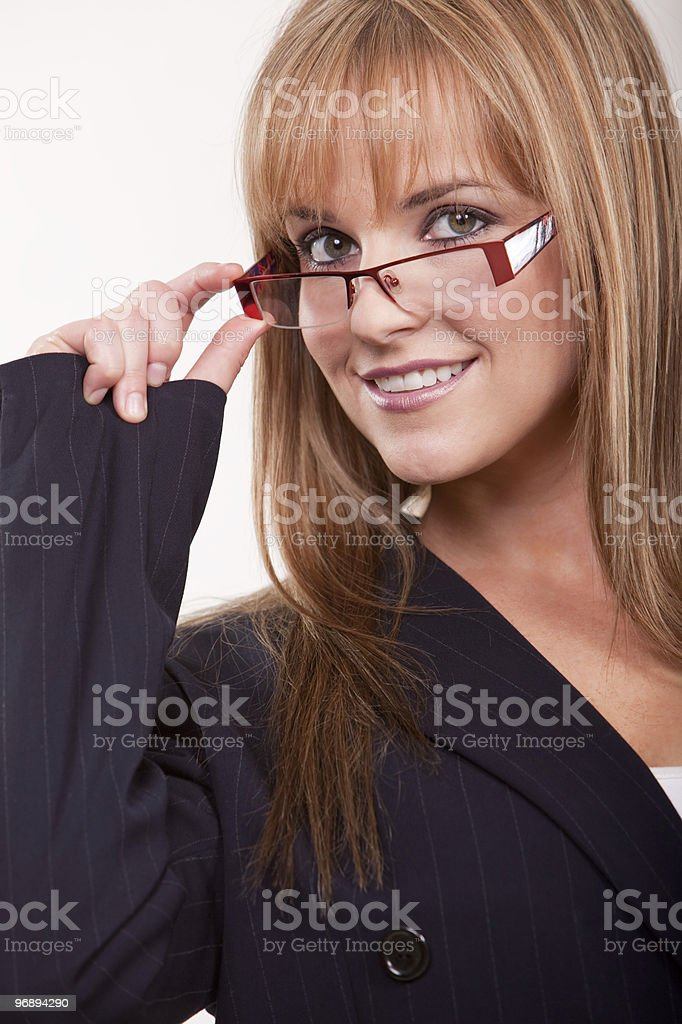 Attractive twenties caucasian business woman royalty-free stock photo