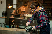 Even Pretty Girls Can Weld Metal. Although They Need To Be Dressed Suitably For This Hard Work.