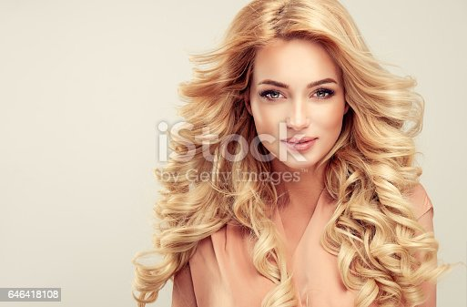 697916070istockphoto Attractive woman blonde with elegant hairstyle. 646418108