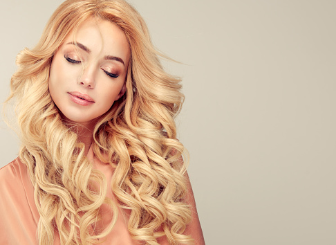 928358464 istock photo Attractive woman blonde with elegant hairstyle. 646418154