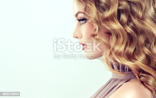 697916070istockphoto Attractive woman blonde with elegant hairstyle. 683243644