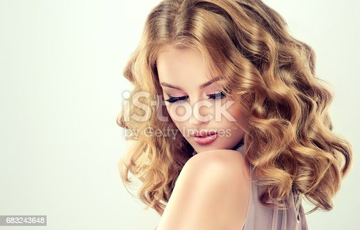 697916070istockphoto Attractive woman blonde with elegant hairstyle. 683243648
