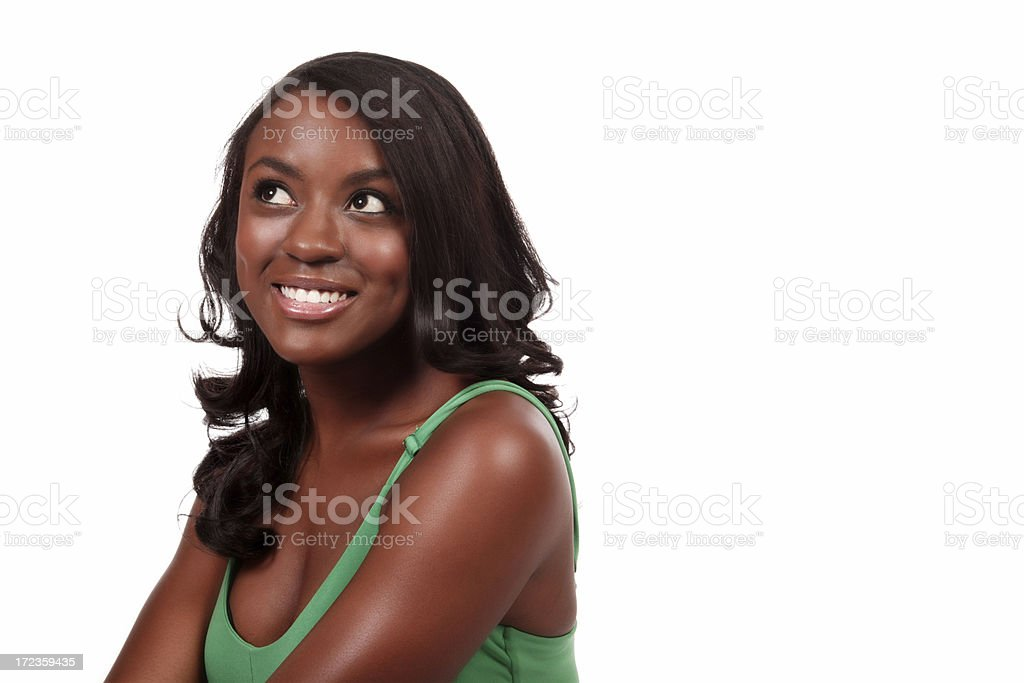 Attractive Woman Contemplating royalty-free stock photo