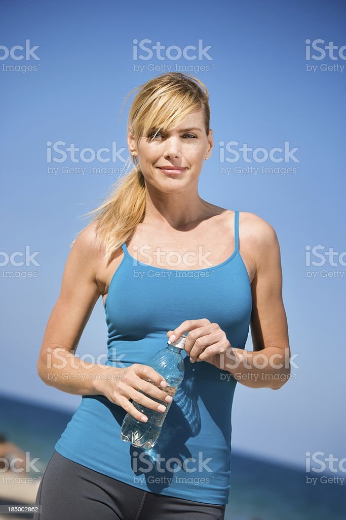 Attractive woman fitness stock photo
