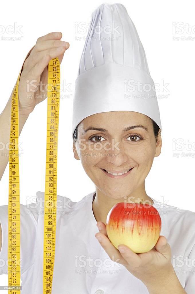 attractive woman happy cook royalty-free stock photo