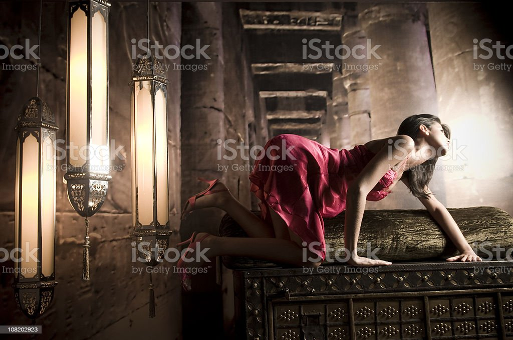 Attractive Woman in a Club royalty-free stock photo