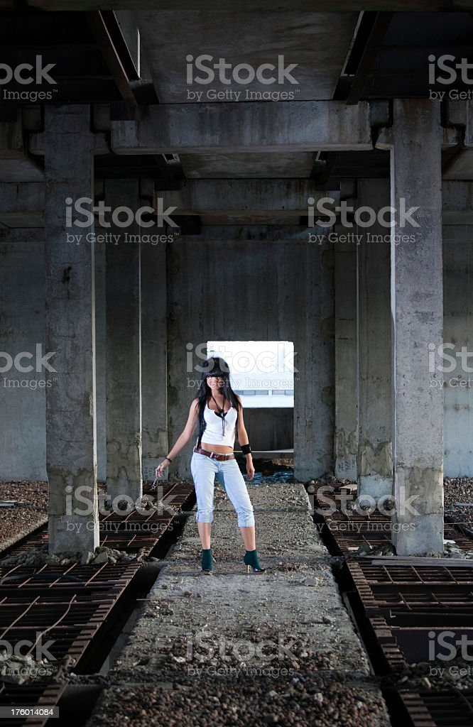 Attractive Woman In Abandoned Building Stock Photo Download Image Now Istock