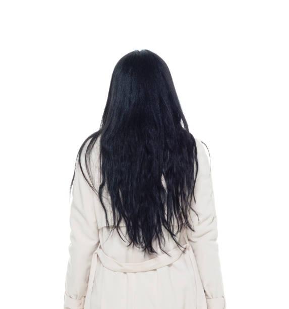 비즈니스 의류에서 매력적인 여자 - 검정 머리 뉴스 사진 이미지