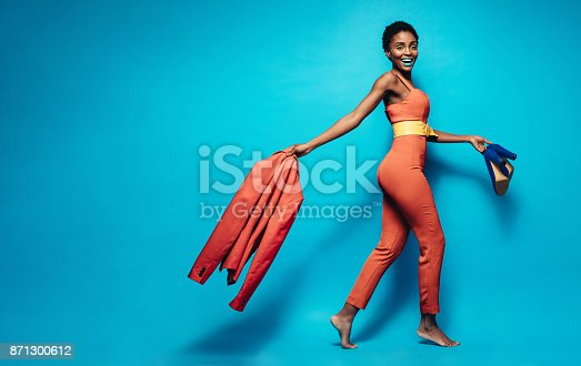 istock Attractive woman in stylish clothing 871300612