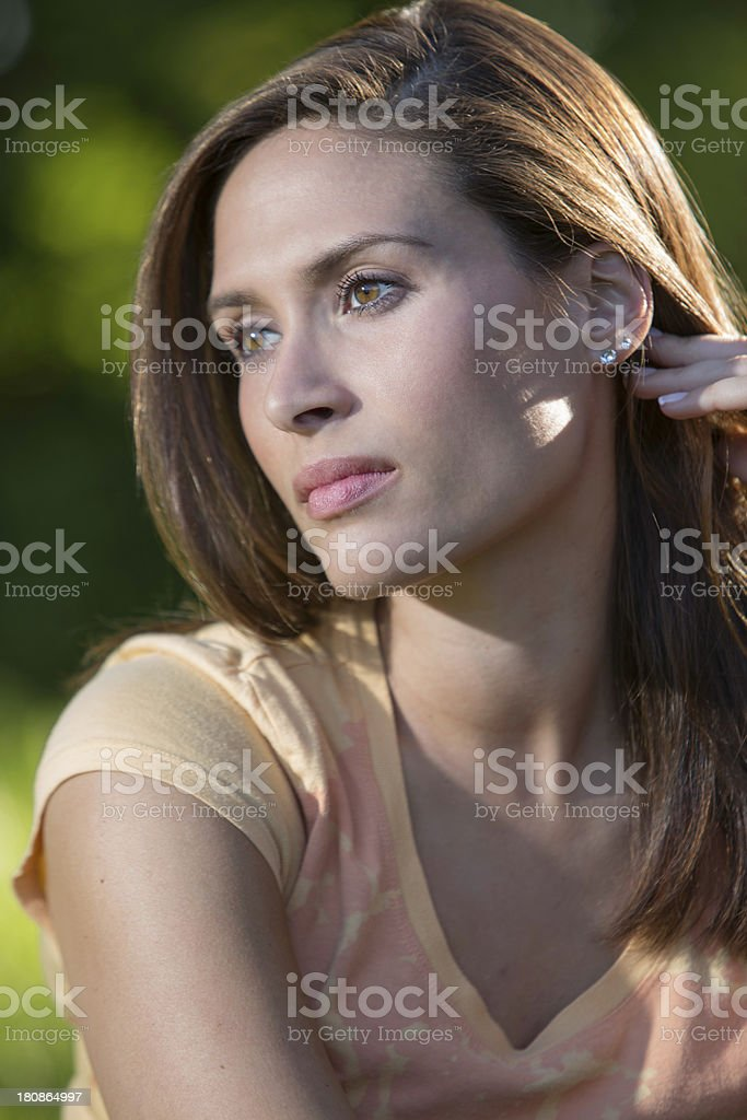 Attractive Woman Looking Away royalty-free stock photo