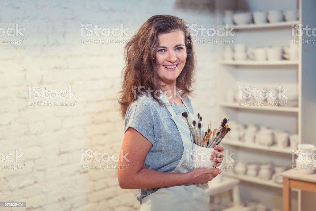 Attraktive Frau - Lizenzfrei Atelier Stock-Foto
